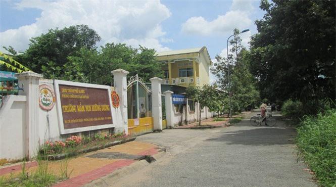 Trường mầm non Hướng Dương nơi xảy ra sự việc - Ảnh: Tuổi trẻ