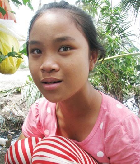 Cháu Phan Thanh Nữ, 13 tuổi, đang học lớp 6.