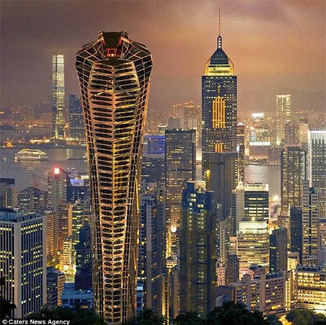 Tòa nhà được lấy ý tưởng từ một con rắn hổ mang hung hãn khiến nhiều người hoảng sợ.
