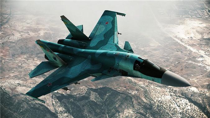 Tiêm kích bom Su-34 Nga tham gia chiến dịch không kích IS ở Syria.