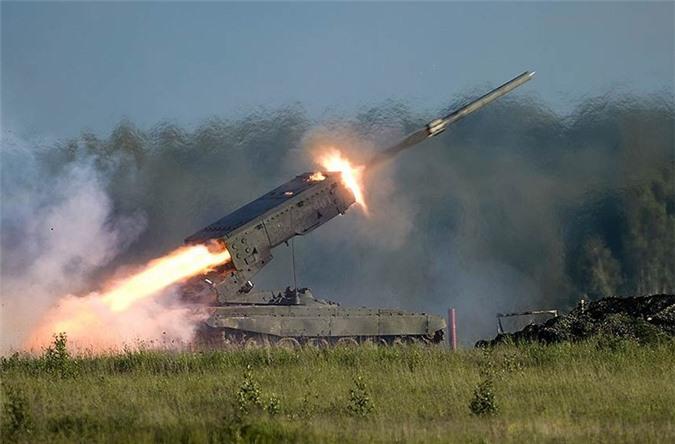 Với các loại đạn phản lực nhiệt áp tới diện tích 2km2, pháo phản lực TOS-1A tiếp tục sẽ khiến cho phiến quân IS phải khốn đốn ở Syria.